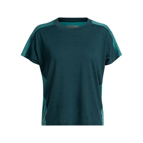 Icebreaker T-shirt Wmns Kinetica SS Crewe NIGHTFALL/BLUE SPRUCE