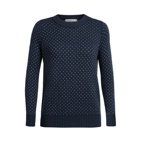 Icebreaker Tröja Wmns Waypoint Crewe Sweater Midnight Navy
