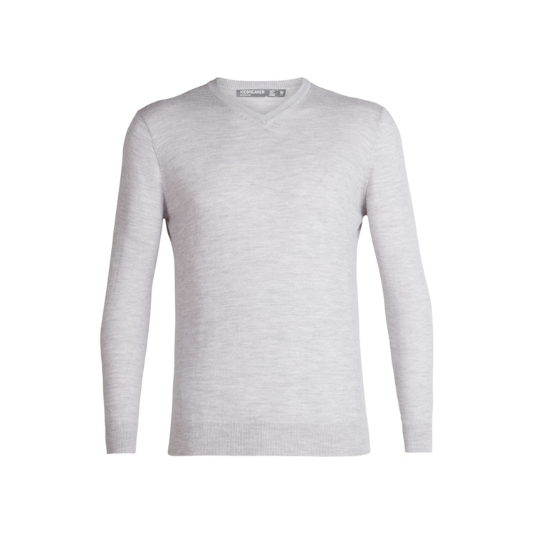 Icebreaker Tröja Mens Shearer V Sweater STEEL HTHR