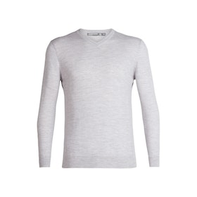 Icebreaker Tröja Mens Shearer V Sweater STEEL HTHR