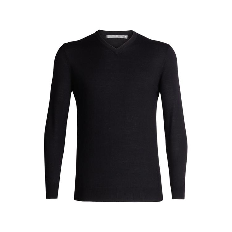 Icebreaker Tröja Mens Shearer V Sweater Black