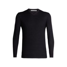 Icebreaker Tröja Mens Shearer V Sweater Black