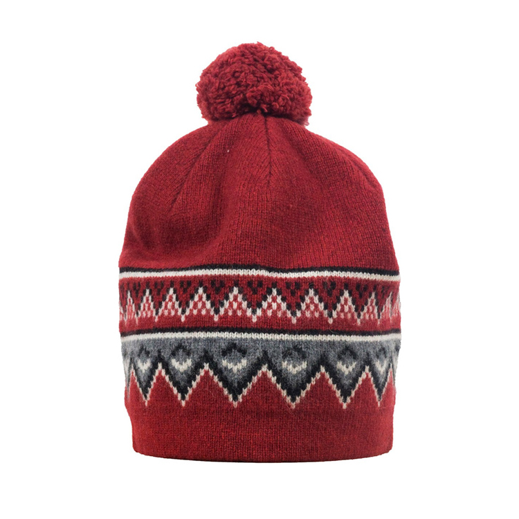 Skhoop Mössa Scandianvian Beanie  Dark Sweet Red