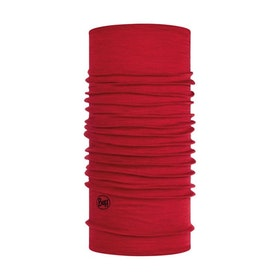 Buff Tubhalsduk Lightweight Merino Wool Solid Red