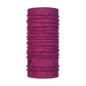 Buff Tubhalsduk Lightweight Merino Wool Raspberry Multi Stripes