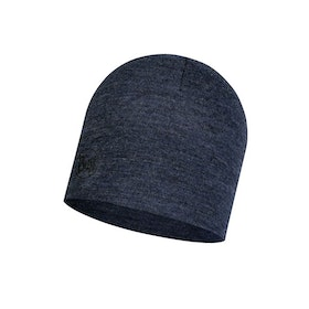 Buff Mössa Midweight Merino Wool Hat Night Blue Melange