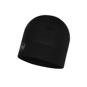 Buff Mössa Midweight Merino Wool Hat Solid Black