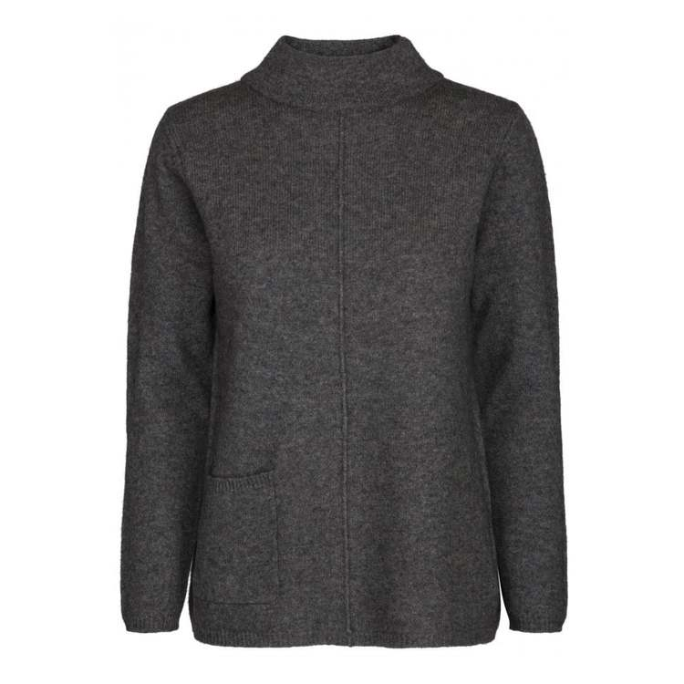 Two Danes Tröja Yano Sweater Dk Grey Mel