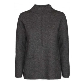 Two Danes Tröja Yano Sweater Dk Grey Mel