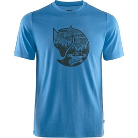 Fjällräven T-shirt Abisko Wool Fox SS Man UN Blue