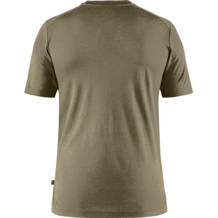 Fjällräven T-shirt Abisko Wool Tältplats SS Man Light Olive