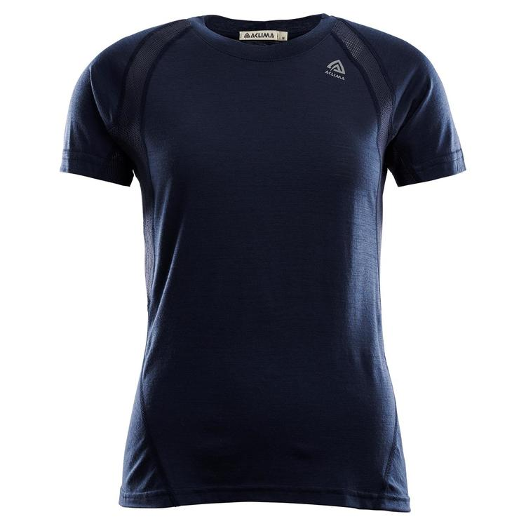 Aclima Tränings t-shirt LightWool Sports T-shirt Woman Navy Blazer