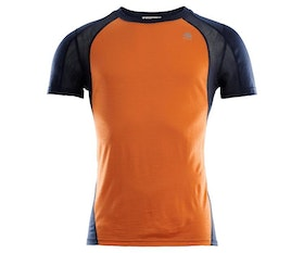 Aclima Tränings t-shirt LightWool Sports T-shirt Man Orange Popsicle/ Navy Blazer