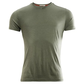 Aclima T-shirt LightWool T-shirt V-neck Man Ranger Green