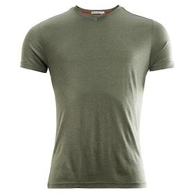 Aclima T-shirt LightWool T-shirt V-neck Man Ranger Green