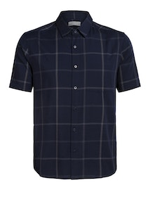 Icebreaker Skjorta Mens Compass SS Shirt Midnight Navy/Monsoon
