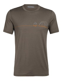 Icebreaker T-shirt Mens Tech Lite SS Crewe Single Line Camp Driftwood
