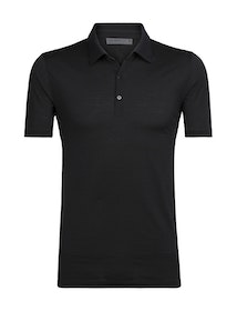 Icebreaker Pikétröja Mens Tech Lite SS Polo Black