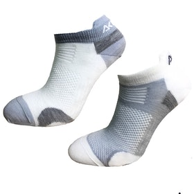 Aclima AS Strumpor Ankle Socks 2-pack -White/Grey
