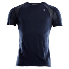 Aclima Tränings t-shirt LightWool Sports T-shirt Man Navy Blazer