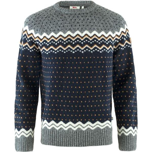 Fjällräven Tröja Övik Knit Sweater M Dark Navy