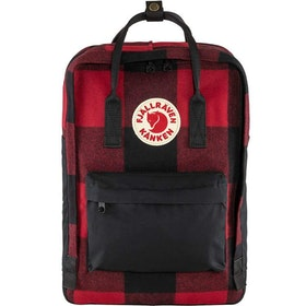 "Fjällräven Väska Kånken Re-Wool Laptop 15"" Red-Black"