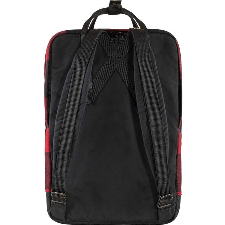 """Fjällräven Väska Kånken Re-Wool Laptop 15"""" Red-Black"""