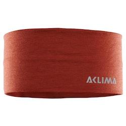 Aclima Pannband LightWool Headband Red Ochre