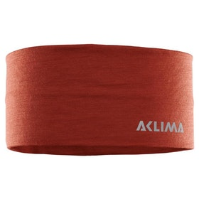 Aclima Pannband LightWool Headband Red Ochre