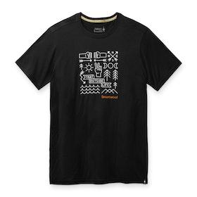 Smartwool T-shirt Men´s Merino Sport 150 Park Vibes Graphic Tee Black