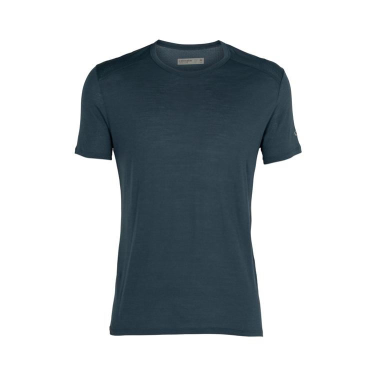 Icebreaker T-shirt Amplify SS Crewe Serene Blue