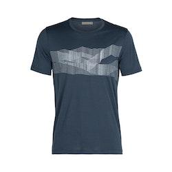 Icebreaker T-shirt Tech Lite SS Crewe St Anton Serene Blue