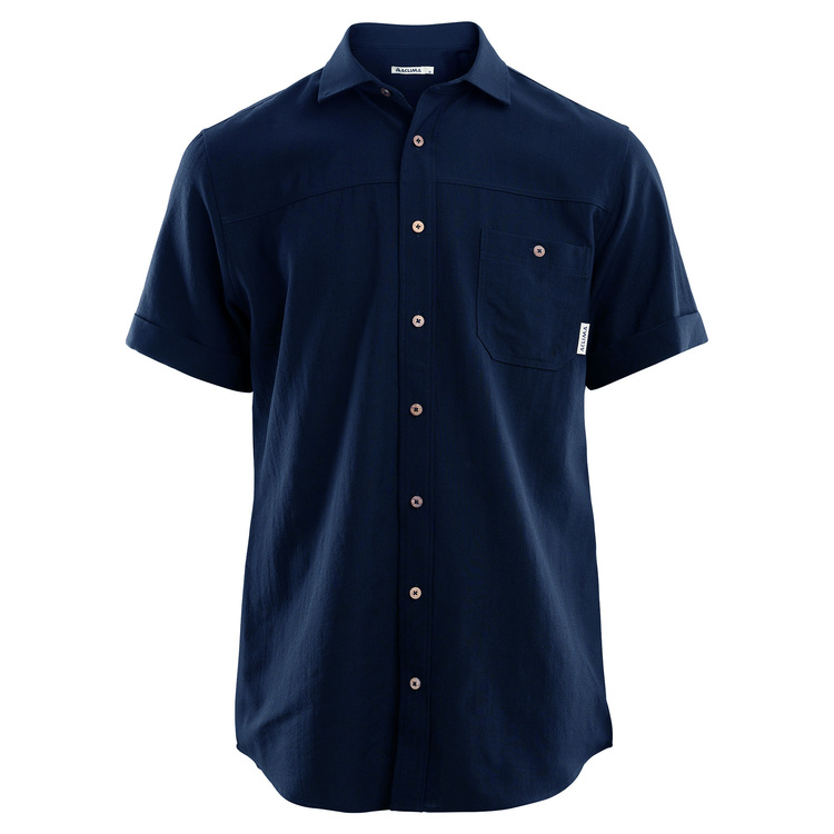 Aclima AS Skjorta LeisureWool Short Sleeve Shirt M Navy Blazer