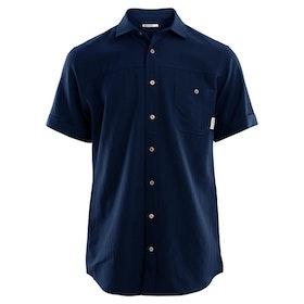 Aclima AS Skjorta LeisureWool Short Sleeve Shirt M Navy Blazer