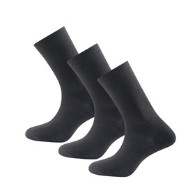 Devold of Norway Strumpor Daily Medium Sock 3pk Black