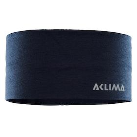 Aclima Pannband LightWool Headband Navy Blazer