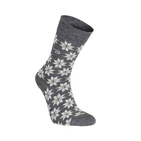 Ivanhoe of Sweden Strumpor Wool Sock Snowflake Grey Marl