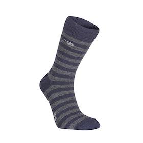 Ivanhoe of Sweden Strumpor Wool Sock Stripe Light Navy