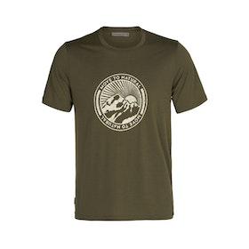 Icebreaker T-shirt Tech Lite II SS Tee M Move To Natural Loden
