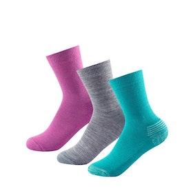 Devold of Norway Strumpor Daily Medium Kid Sock 3pk Girl Mix