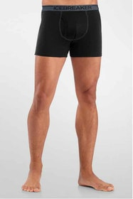 Icebreaker Anatomica Boxer w/fly Black/Monsoon Kalsonger