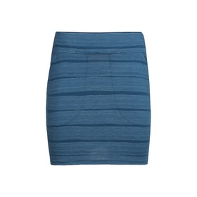 Icebreaker Kjol Yanni Skirt Comed Lines Prussian Blue/Snow