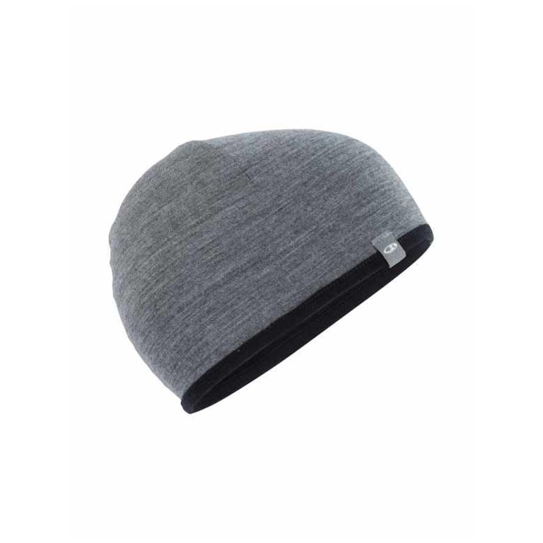 Icebreaker Mössa Pocket Hat  Black/Gritstone HTHR