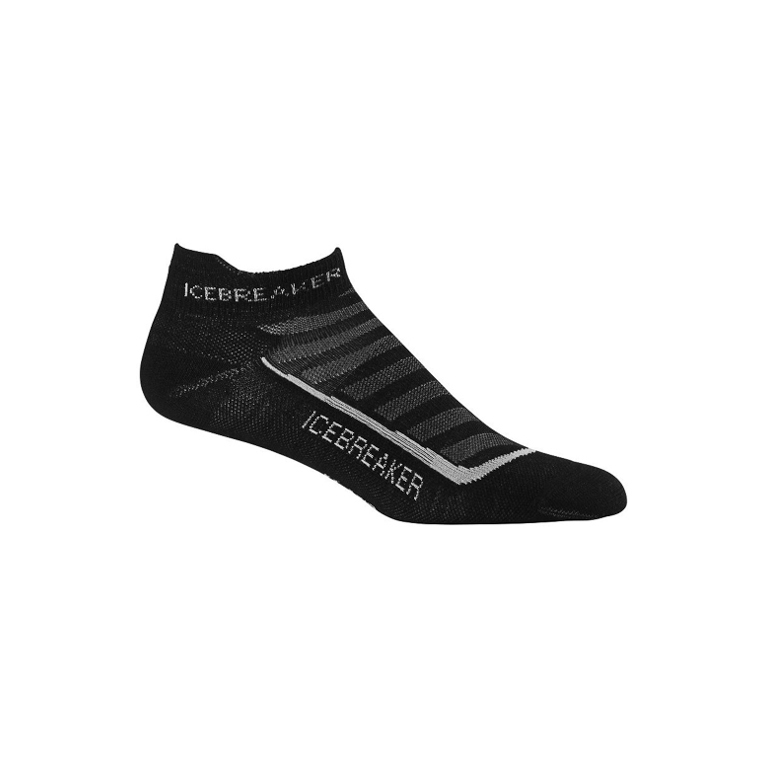 Icebreaker Strumpor M´s Run+ Micro Ultralight Cushion Black/Pearl/Black