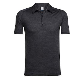 Icebreaker T-shirt Sphere SS Polo Black HTHR