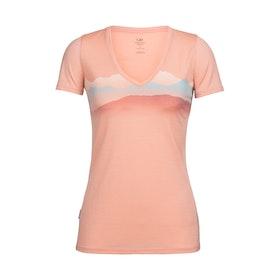 Icebreaker T-shirt Tech Lite SS V Misty Horizons Sorbet