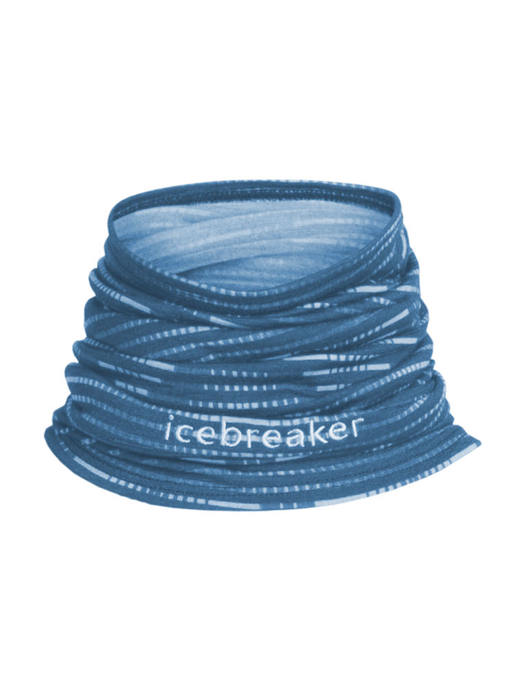 Icebreaker Tub-halsduk Flexi Chute Diamond Line Ice Blue/Largo