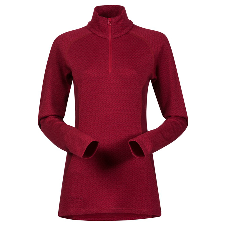 Bergans Tröja Snöull Lady Half Zip Red/Burgundy