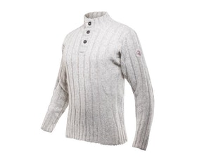 Devold Amundsen Button Neck Grey Melange Tröja