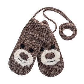 Devold Barnvantar Bear Baby Mitten -Brown